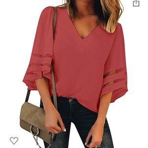Rose colored shirt